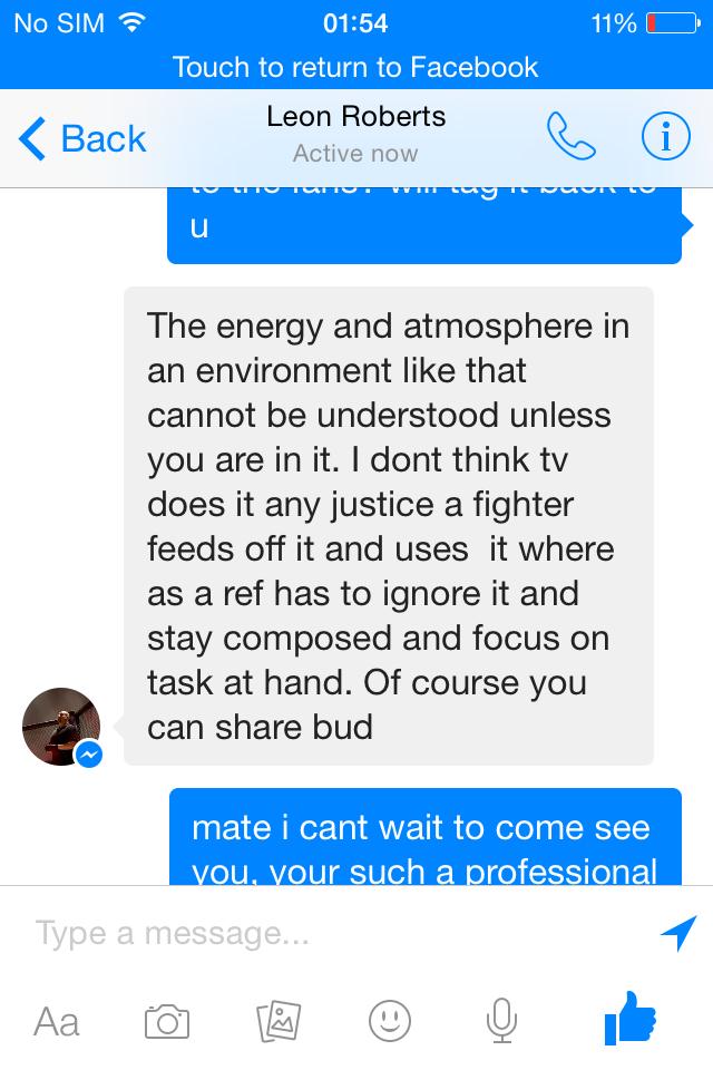 Geoffro- MMA UK talking to UFC main event Referee Leon Roberts pt2