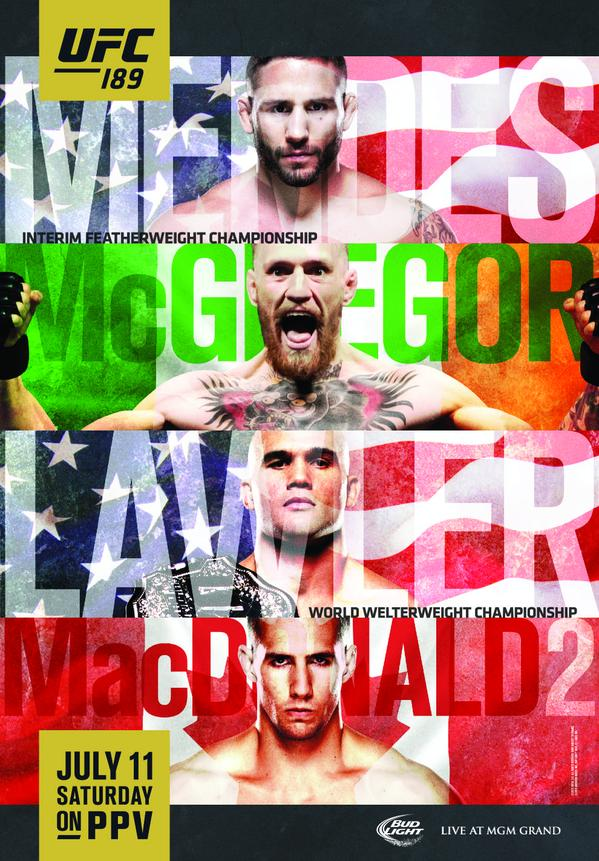 UFC 189 weigh in results for Chad Mendes vs. Conor McGregor with live updates.